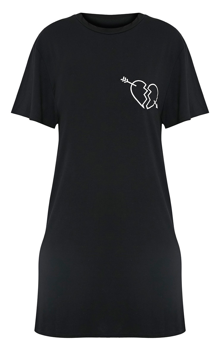 Not Your Baby Black T Shirt Dress 3