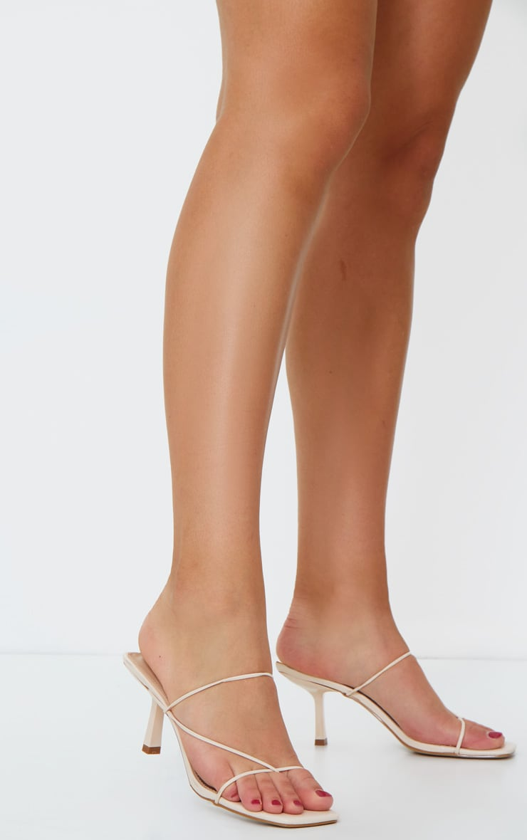 Nude Low Heel Barley There Strappy Mules 1