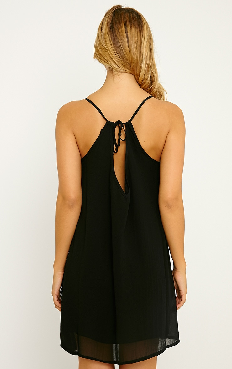 Adelaide Black Sequin Strappy Shift Dress 2
