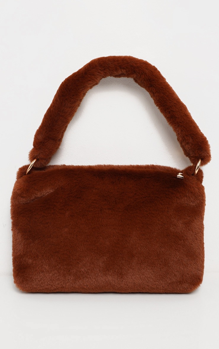 Brown Faux Fur Shoulder Bag 2