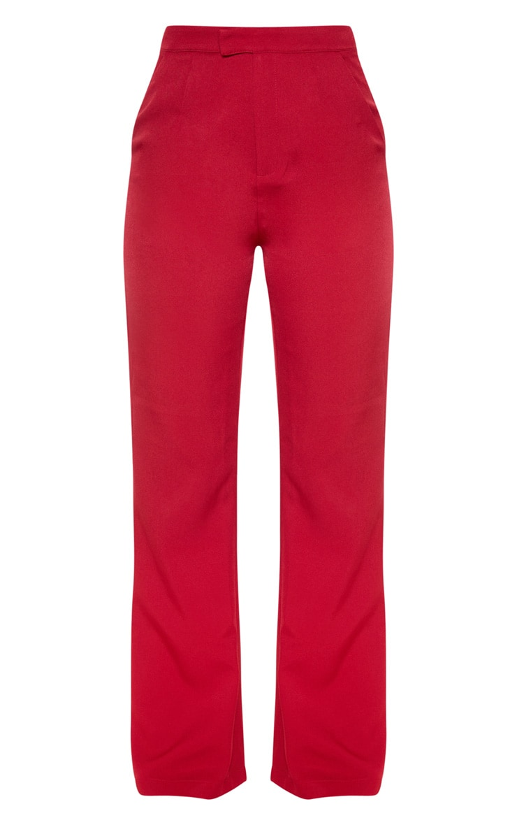 Wine Flared Trouser  3