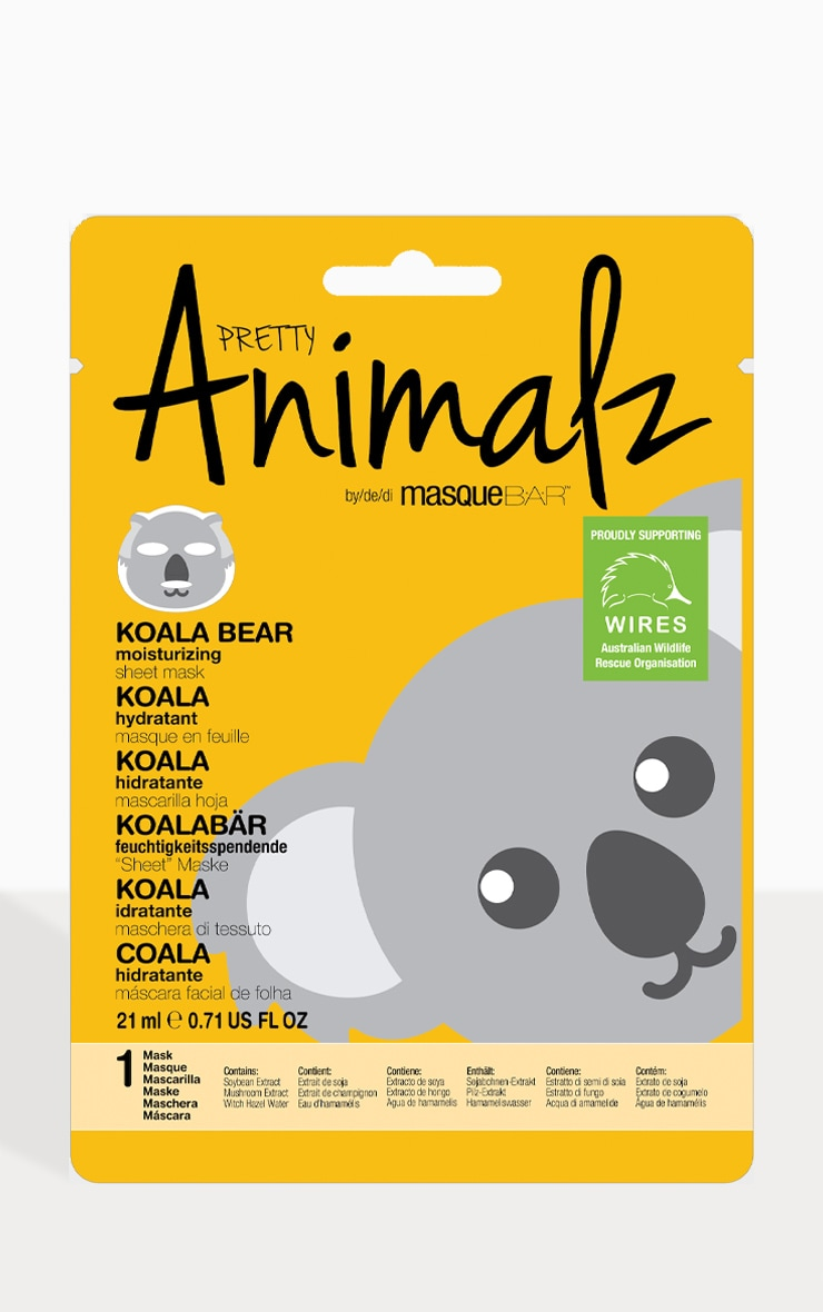 MasqueBAR Animalz Koala Bear Sheet Mask 2