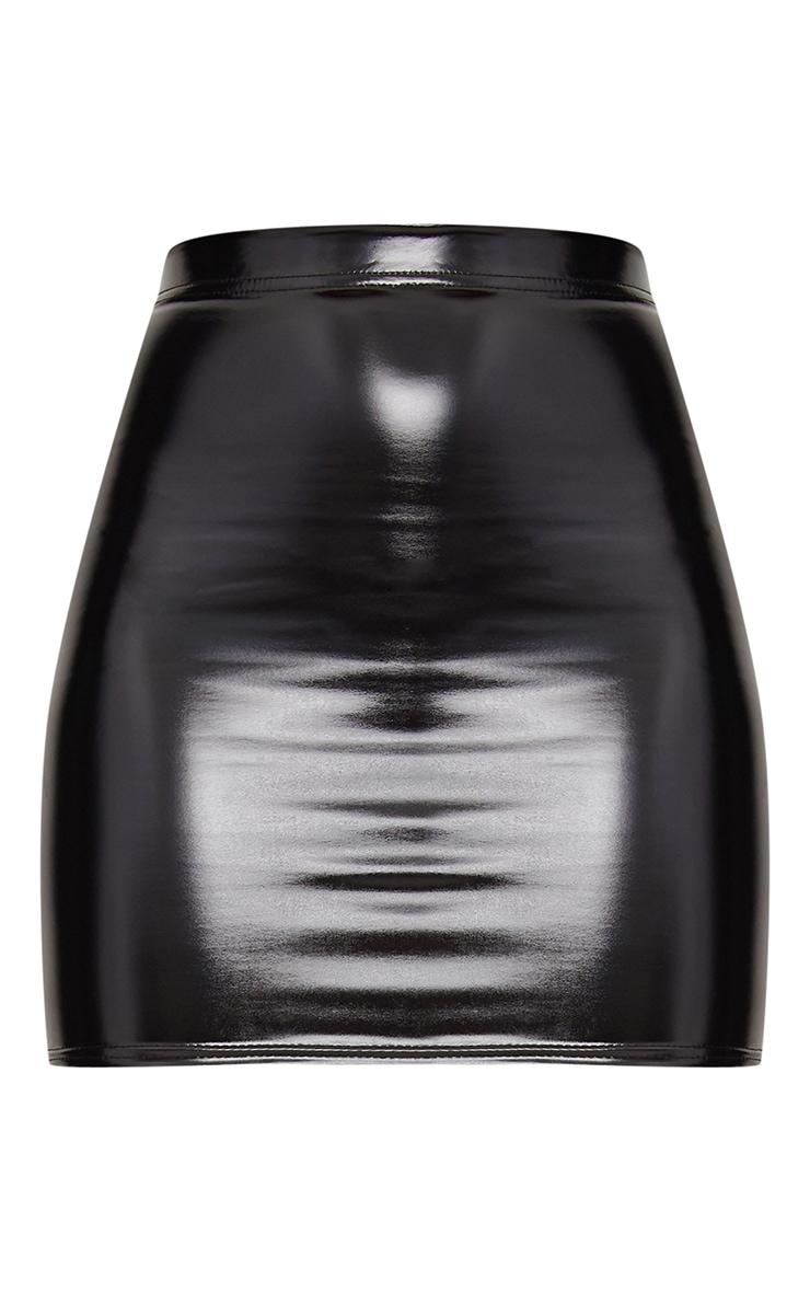 Black Vinyl Skirt 3