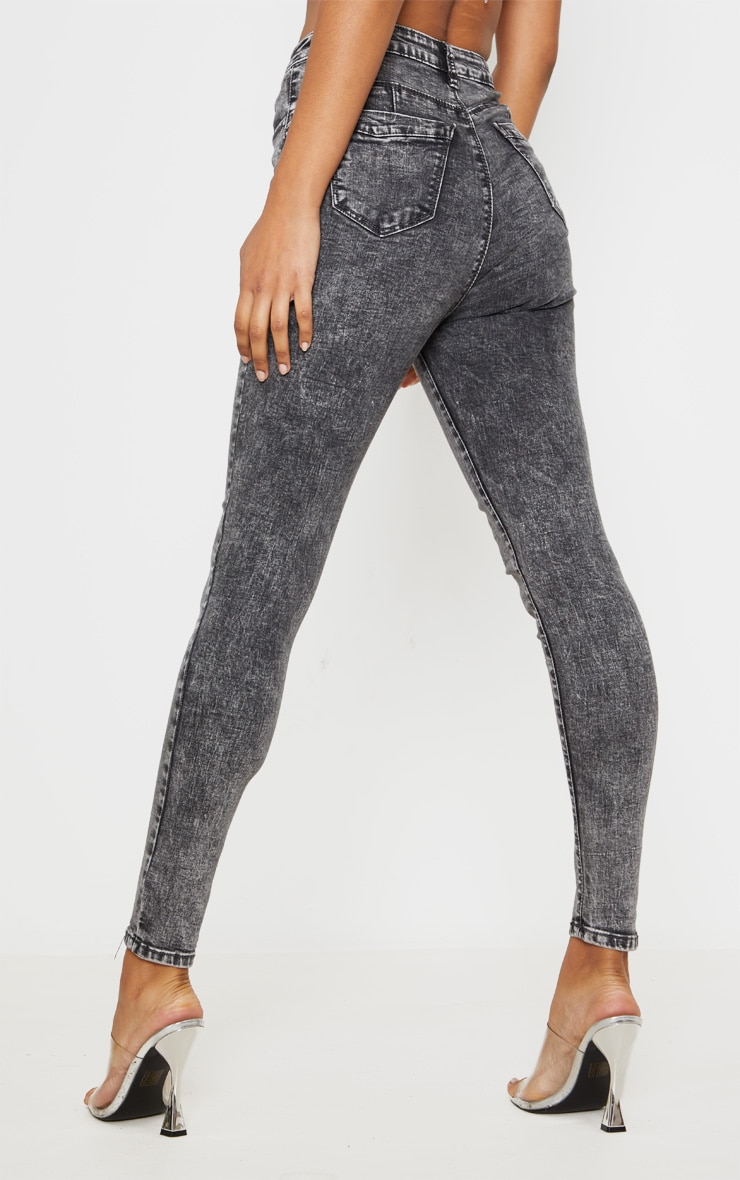 Acid Black Bum Shape Jeans 4