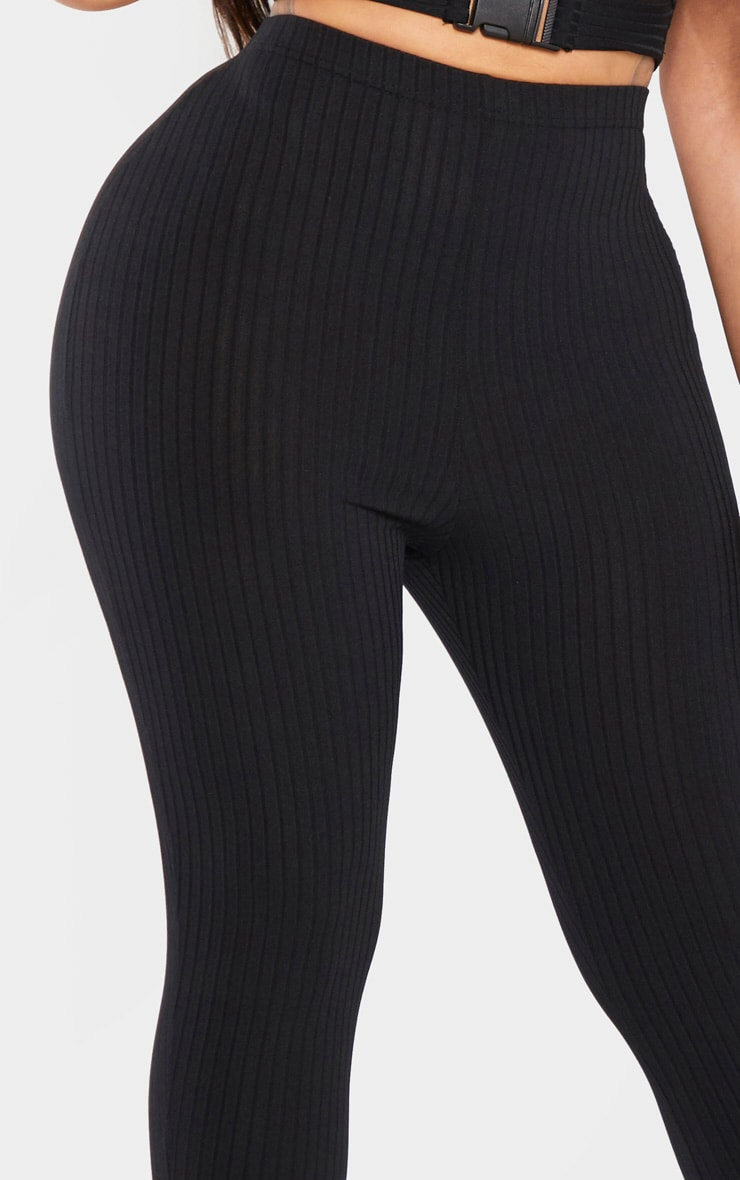 Shape Black Ribbed Legging 5