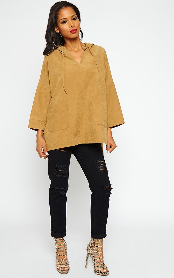 Laina Camel Hooded Jacket 3