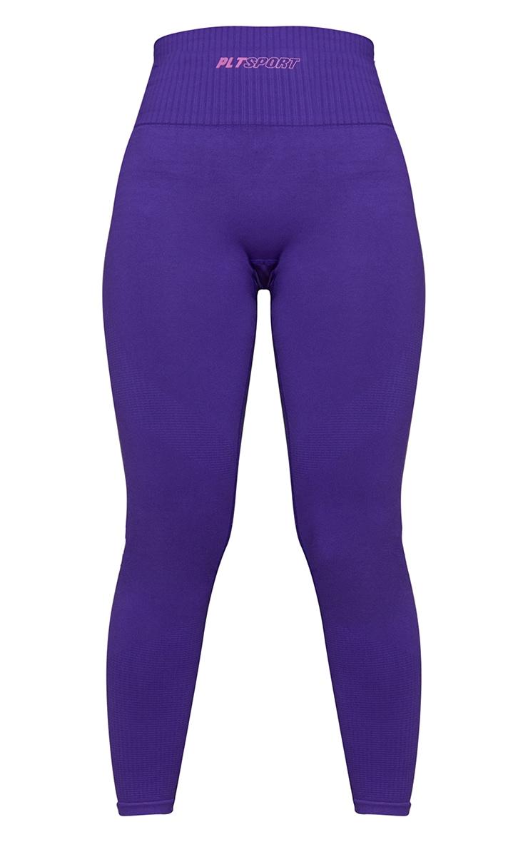 Purple Side Detail High Waist Gym Leggings 5