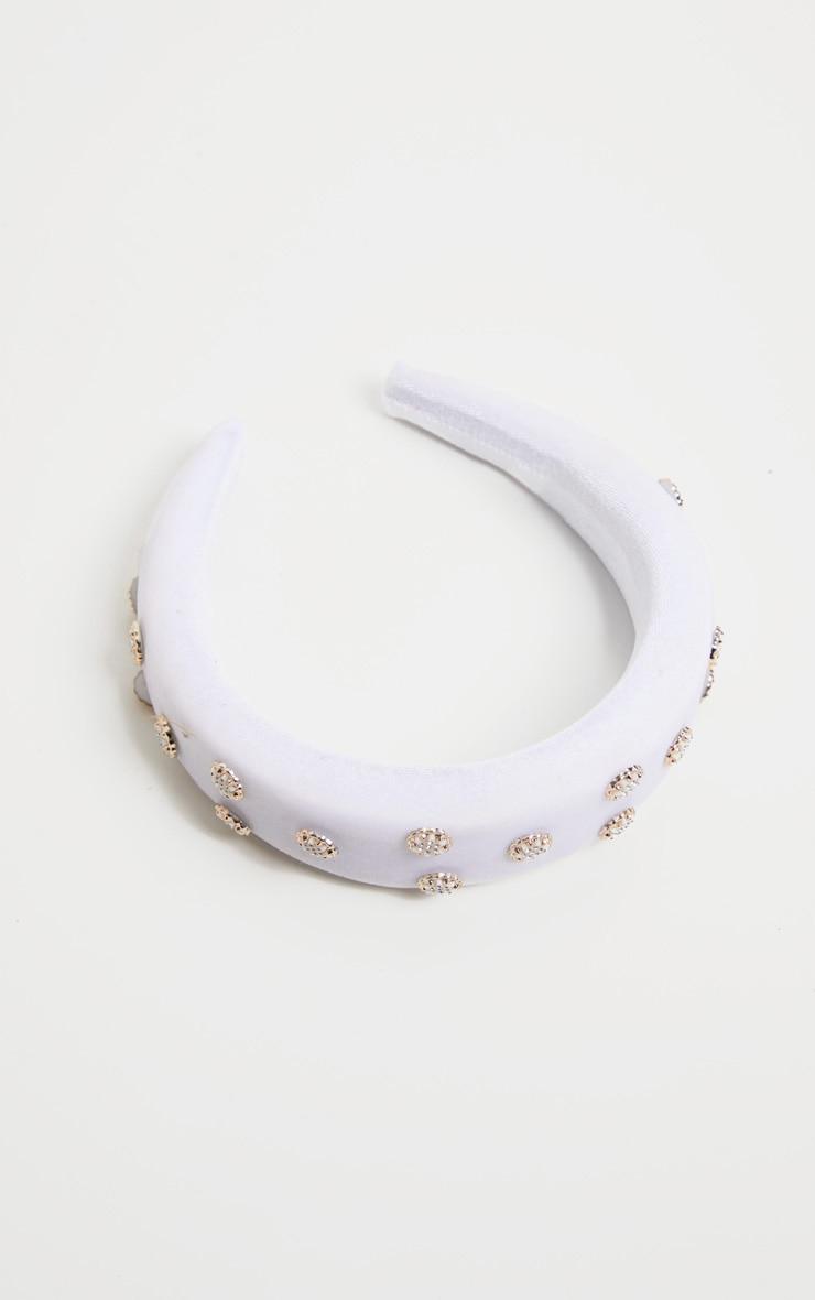 White Embellished Alice Headband 2