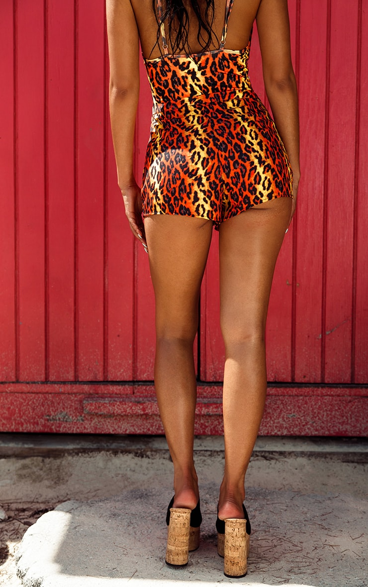 Orange Leopard Beach Short 4