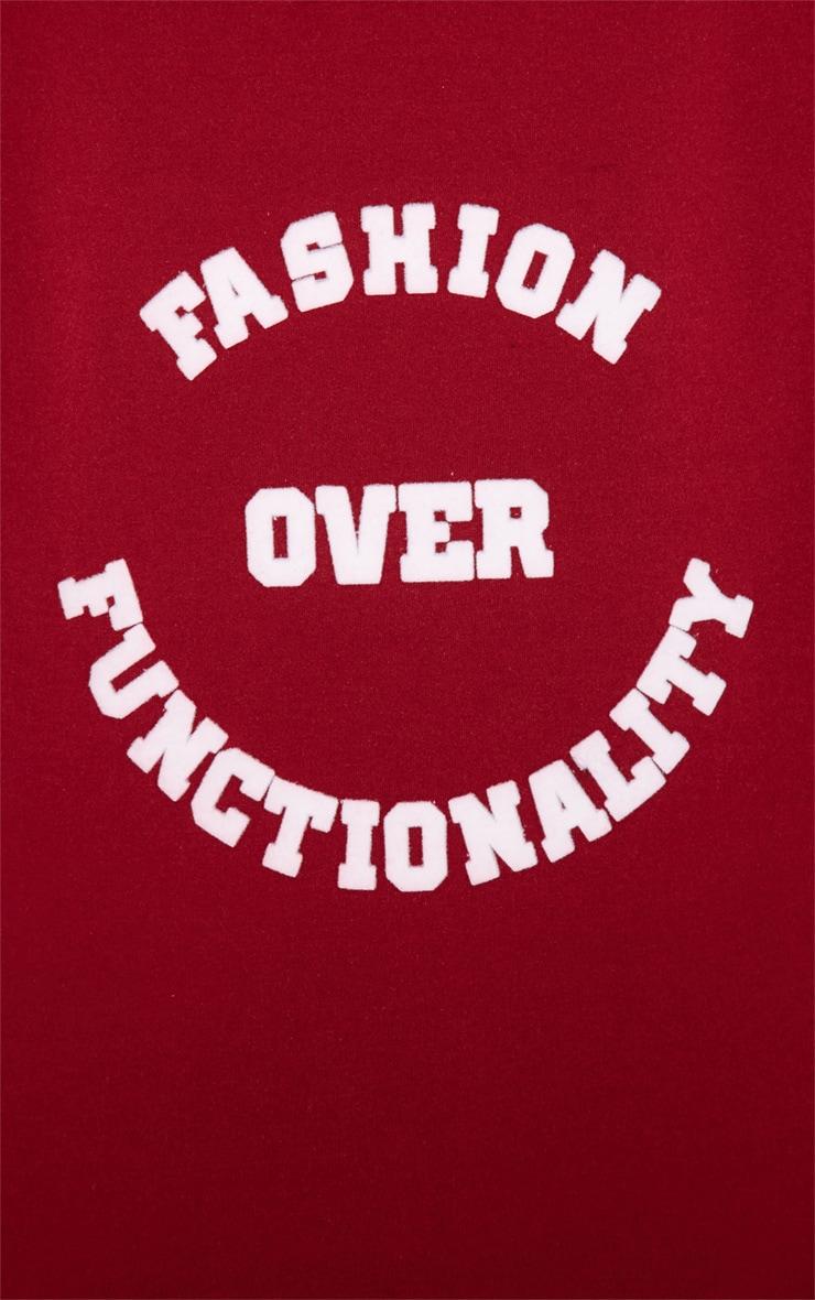 Madison Burgundy Fashion Over Functionality Sweater 3