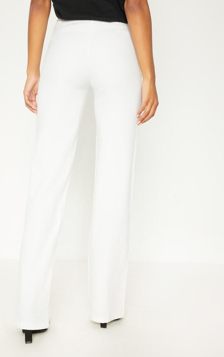 Anala Cream High Waisted Straight Leg Trousers 4
