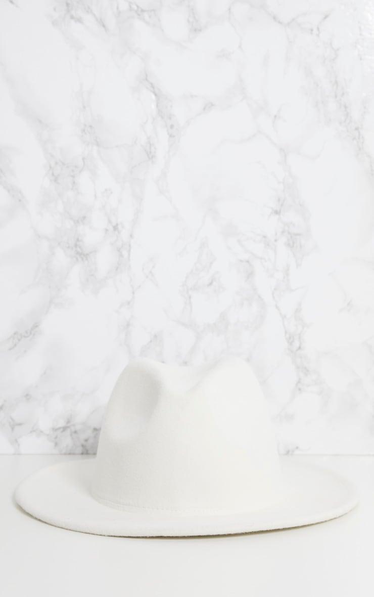 White Fedora Hat 4