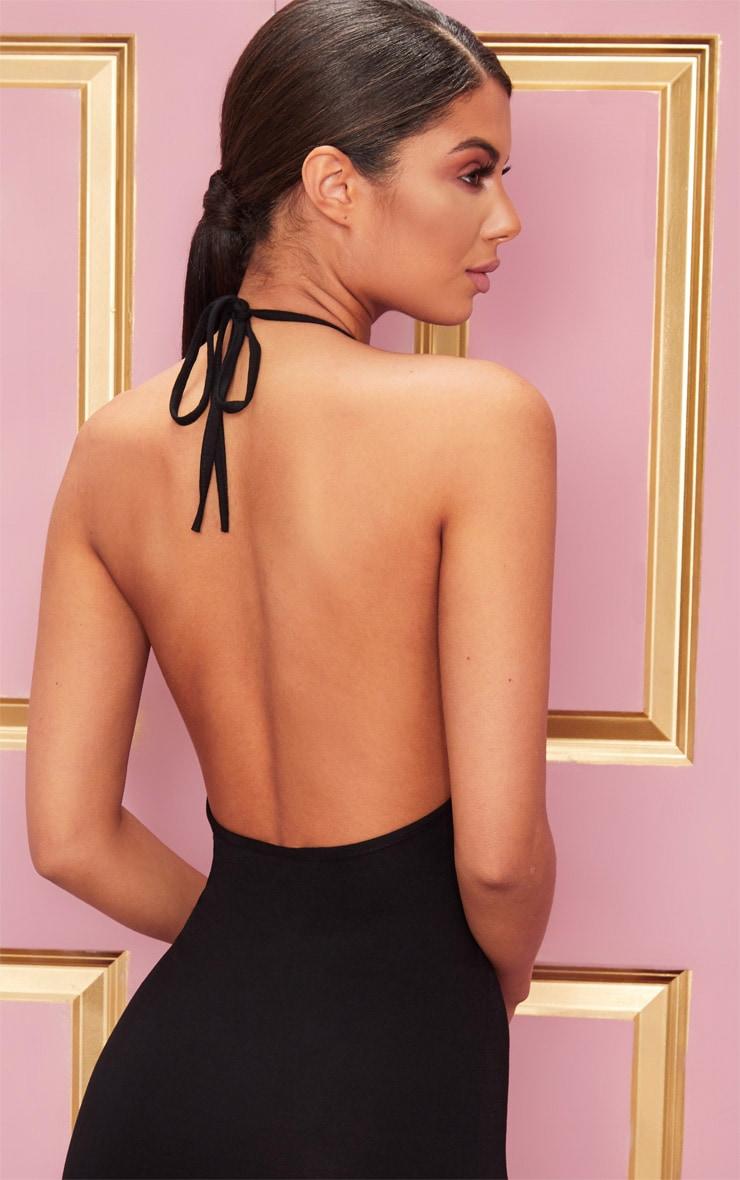 Basic Black Halterneck Bodycon Dress 5
