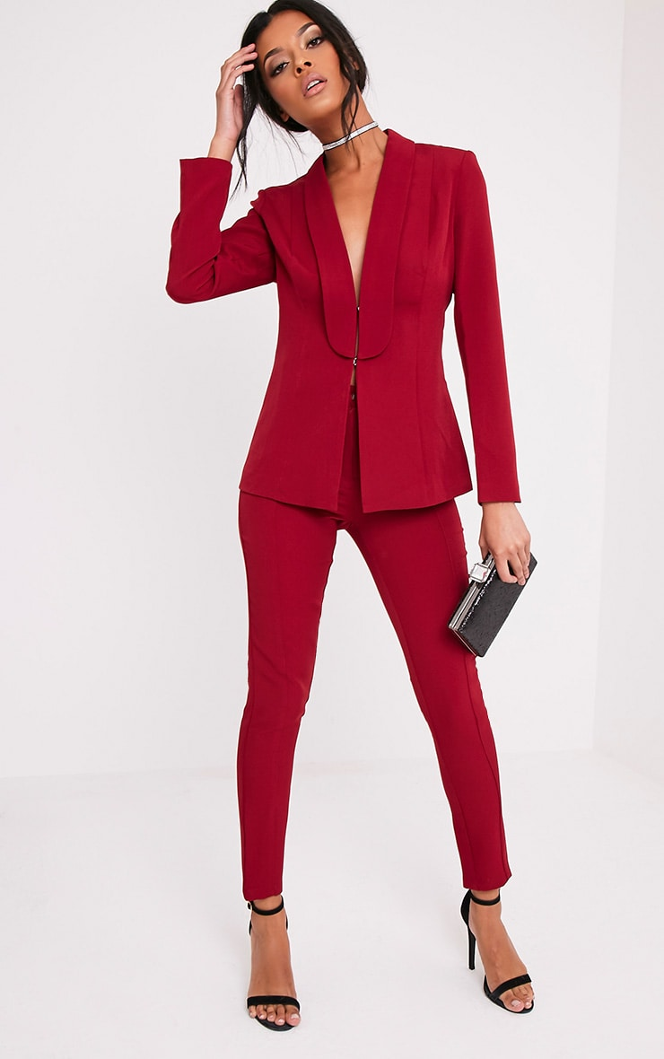 Avani Burgundy Suit Jacket 5