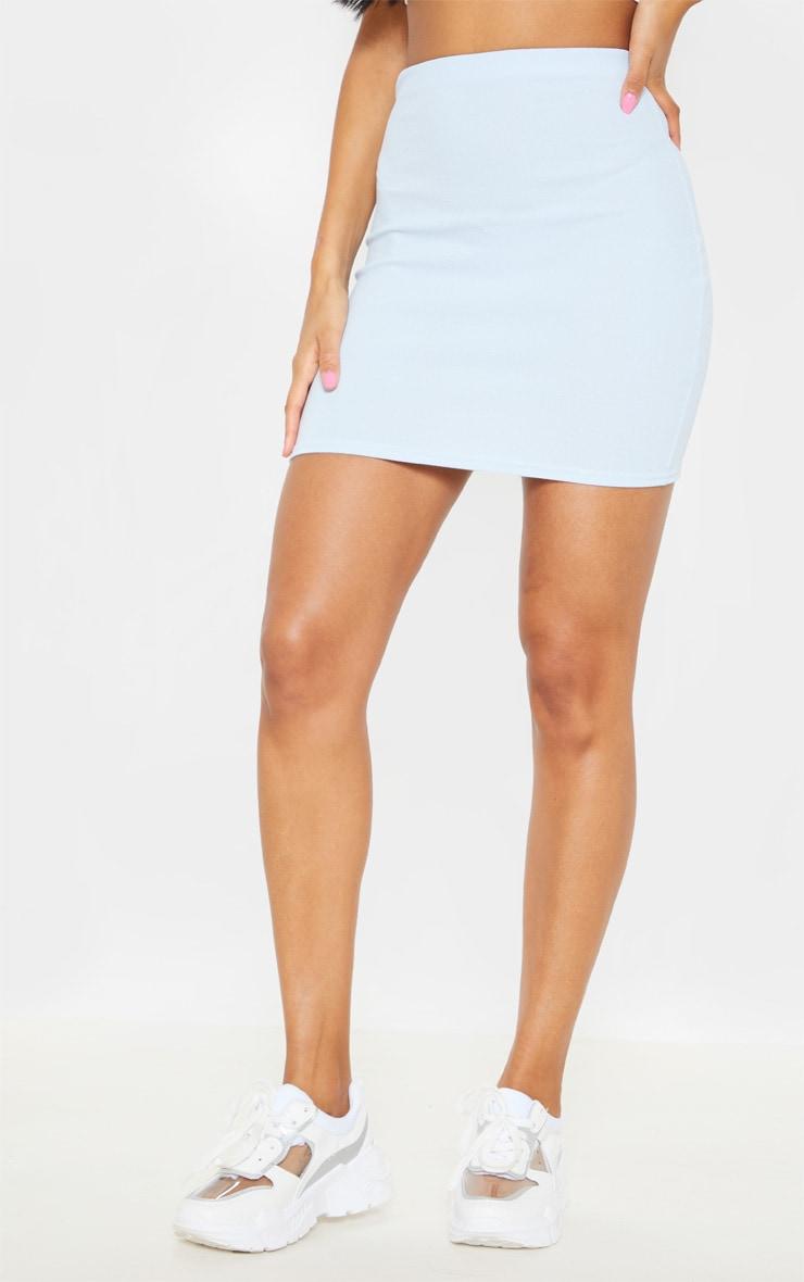 Baby Blue Mini Suit Skirt  2