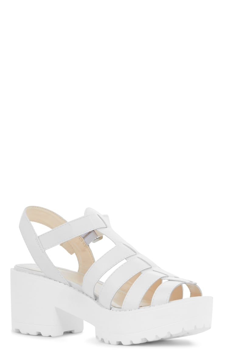Nini White Cut Out Cleated Shoe 2