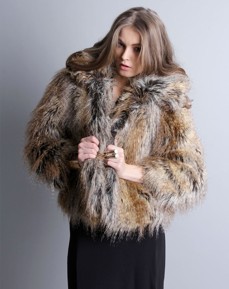 Millie Faux Fur Coat -8 2