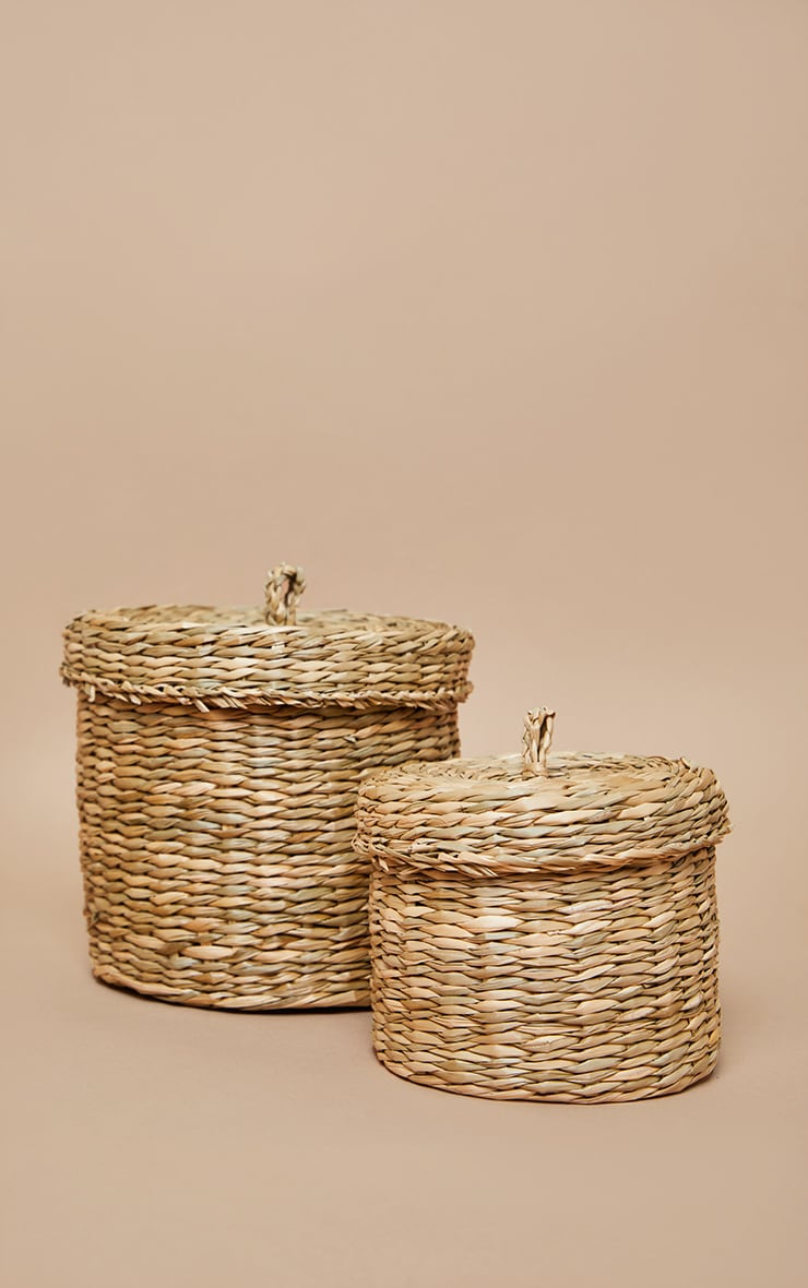 Seagrass Baskets With Lid 2 Pack 3