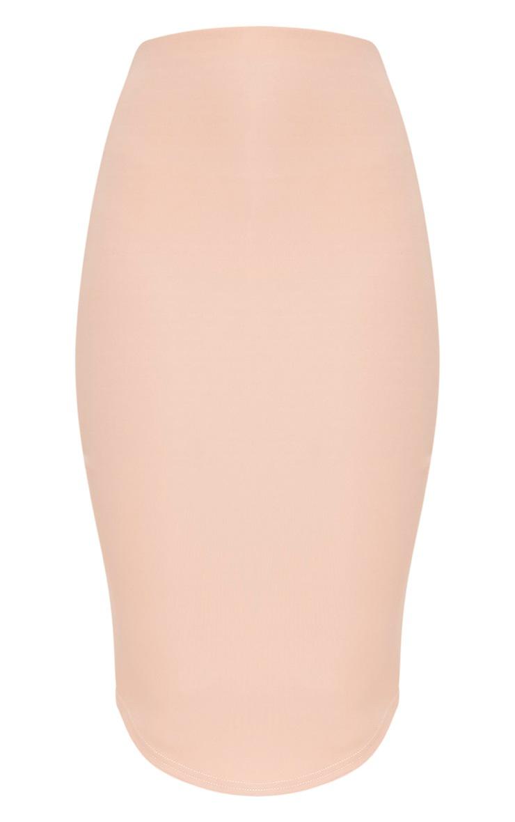Nianna Nude Curve Hem Midi Skirt 3
