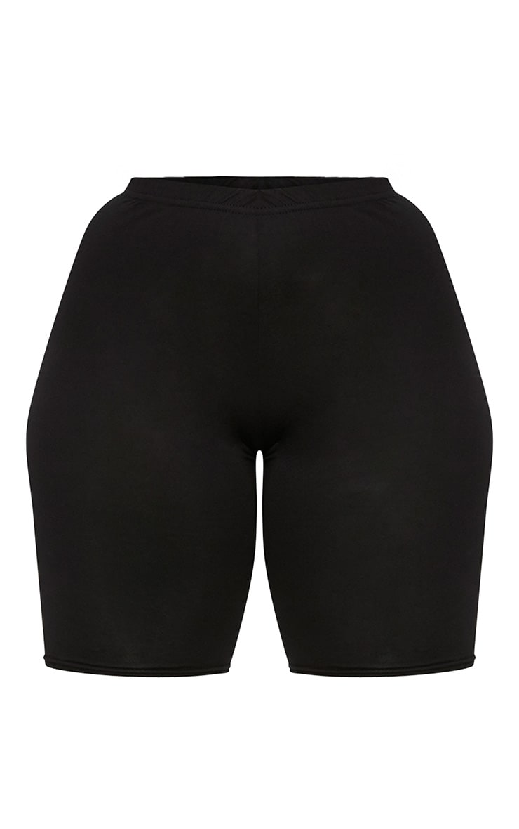 Plus Black Basic Bike Shorts 3