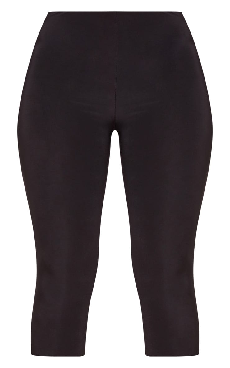 Rio Black Slinky Cropped Leggings 3