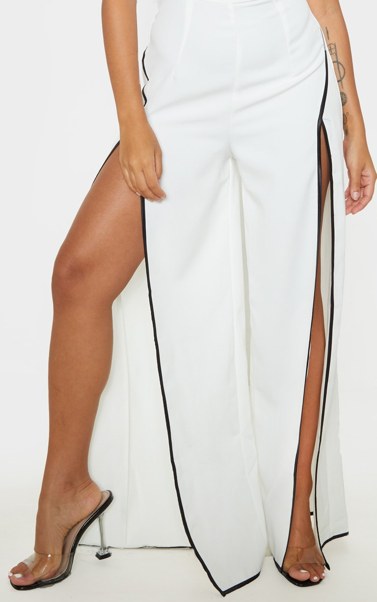 Petite Cream Thigh Split Jumpsuit 5