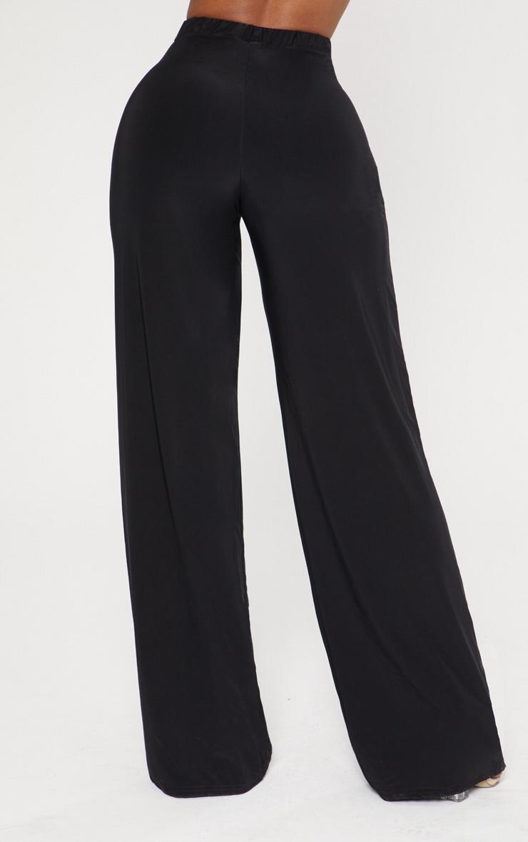 Shape Black Slinky High Waisted Wide Leg Trousers 4