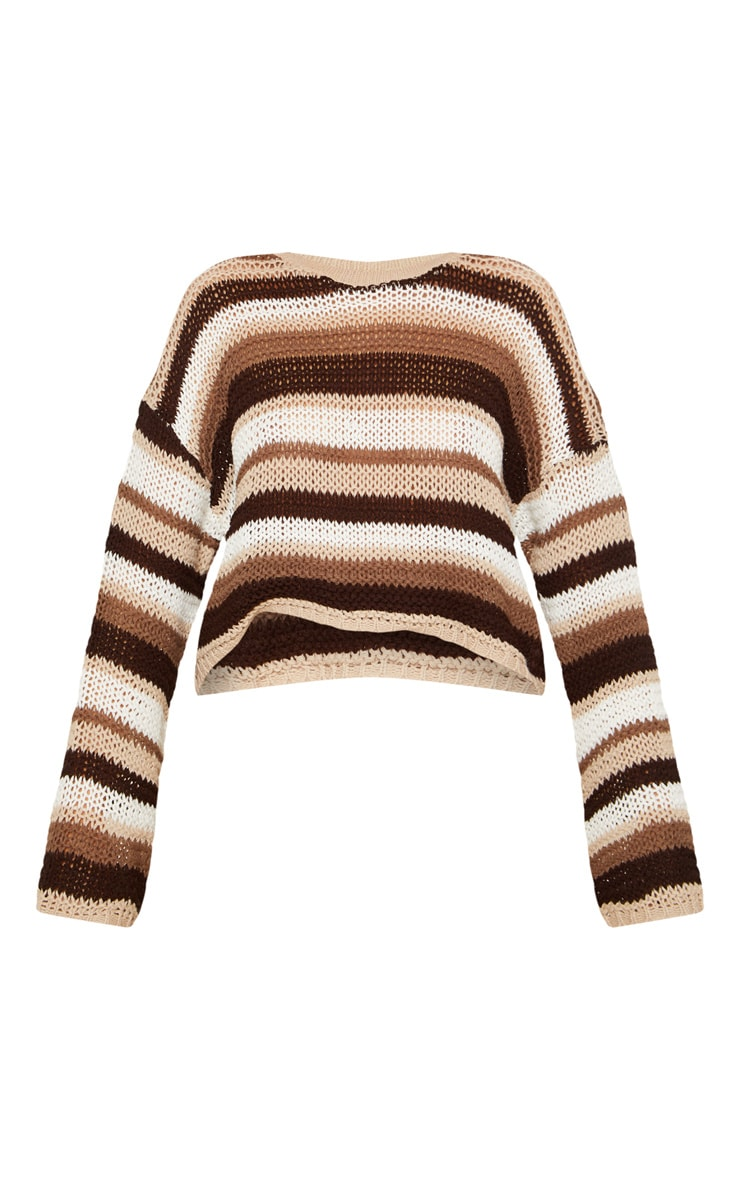 Stone Crochet Striped Jumper  3