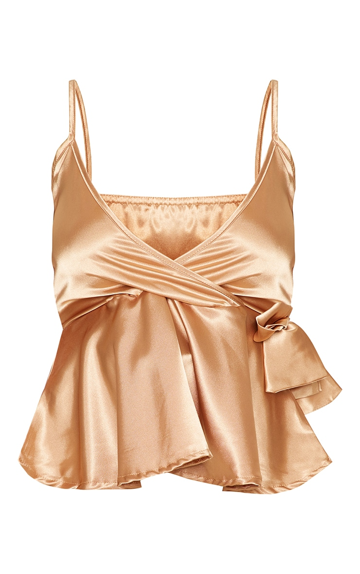 Gold Satin Tie Side Cami 3