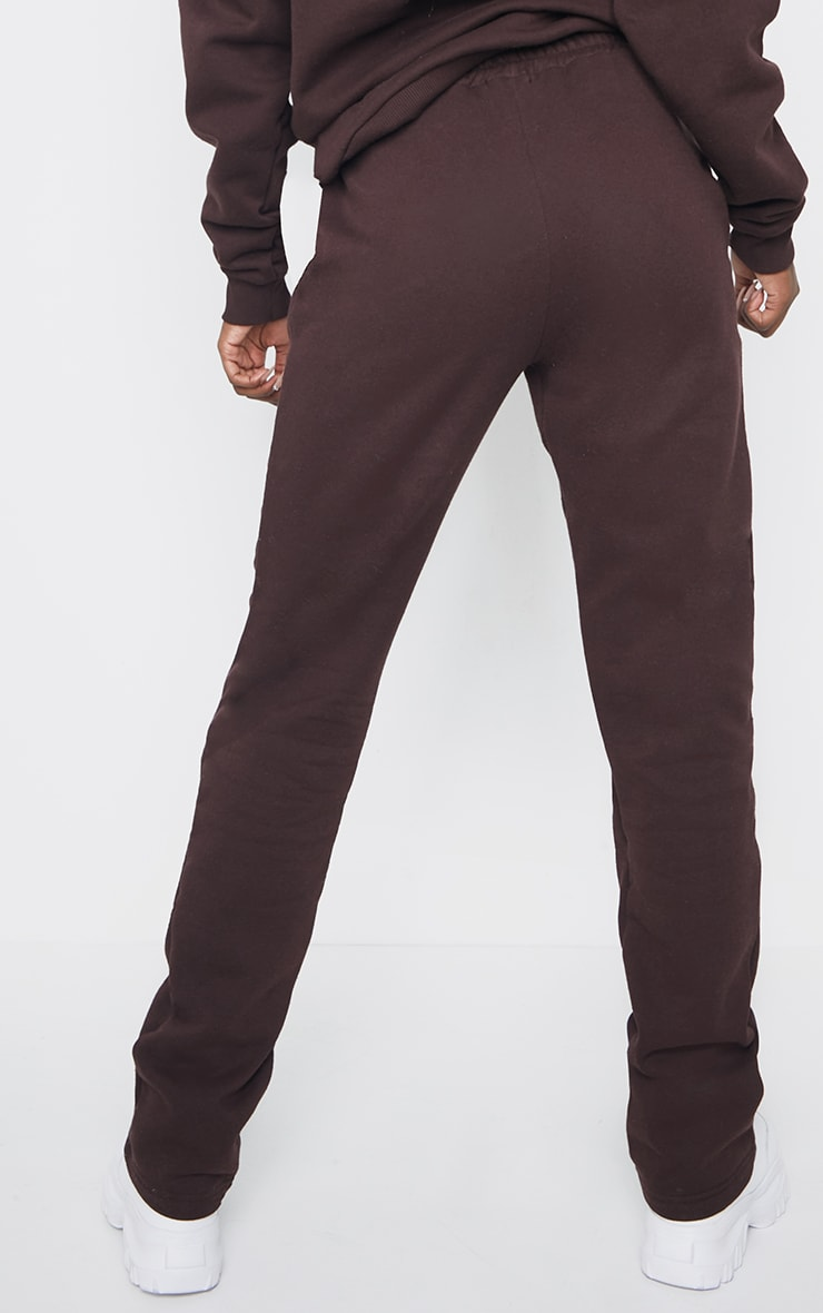 PRETTYLITTLETHING Tall Chocolate Badge Detail Straight Leg Joggers 3