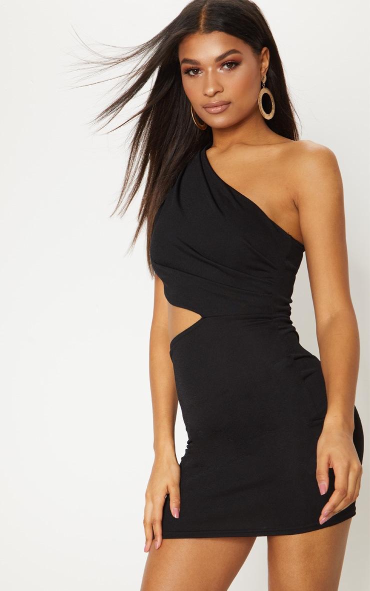 For sale shoulder dress out one waist bodycon cut black fraser