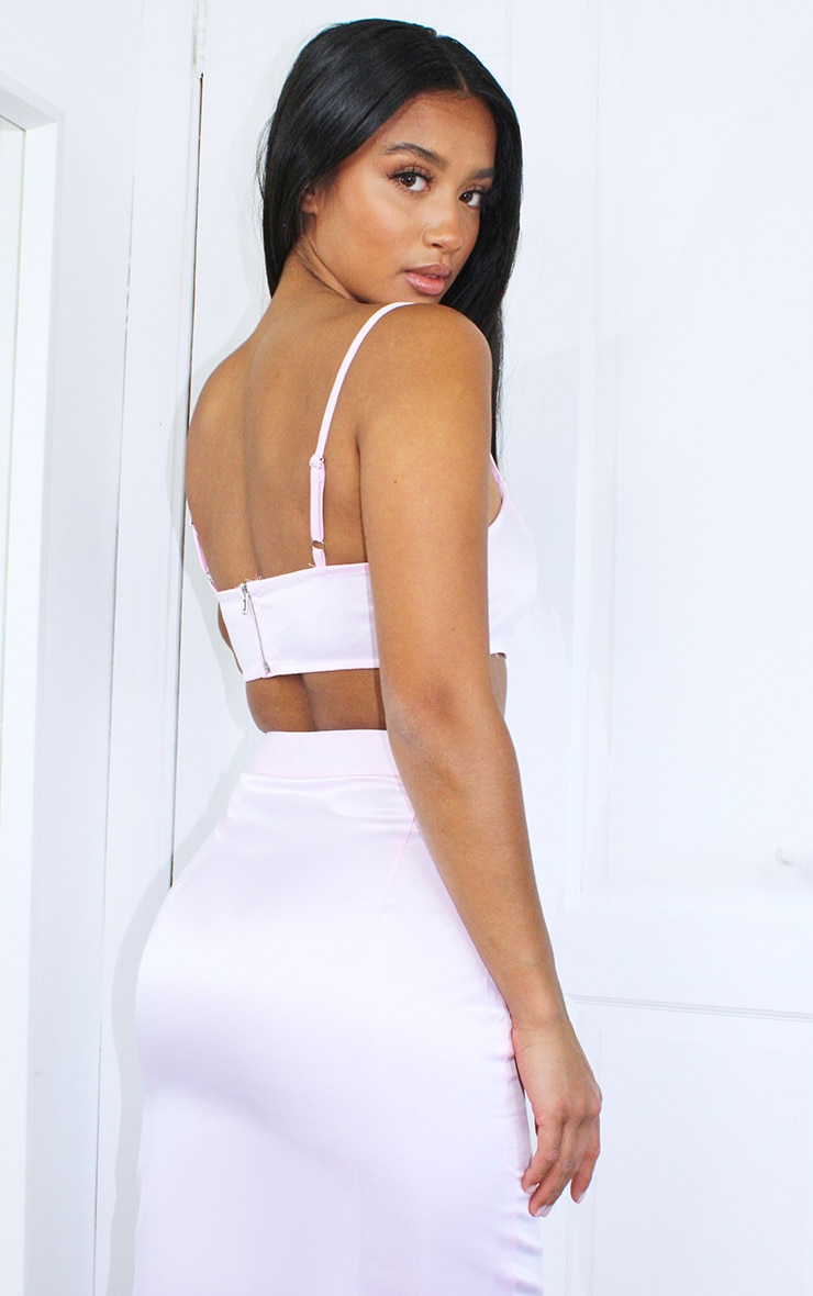 Petite Pink Strappy Crop Top 2