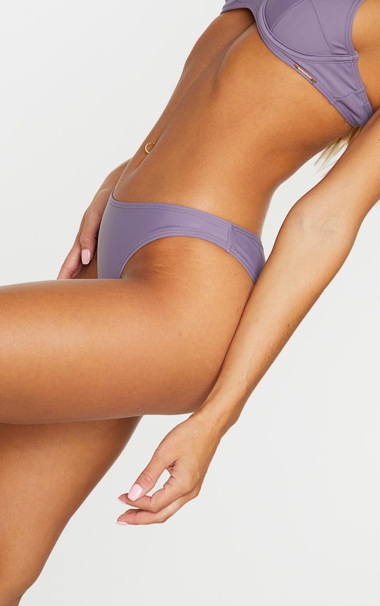 Aubergine Mix & Match Mini Front Bikini Bottoms 4