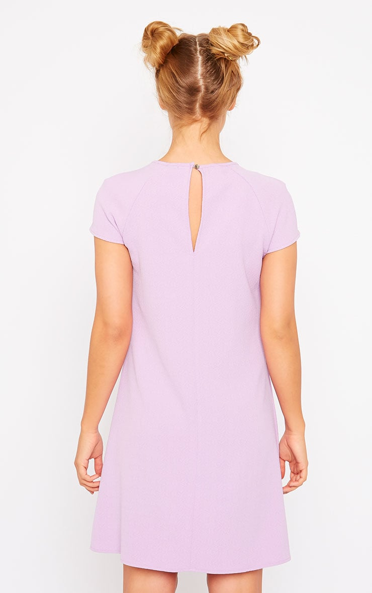 Sabra Lilac Waffle Loose Fit Shift Dress 2