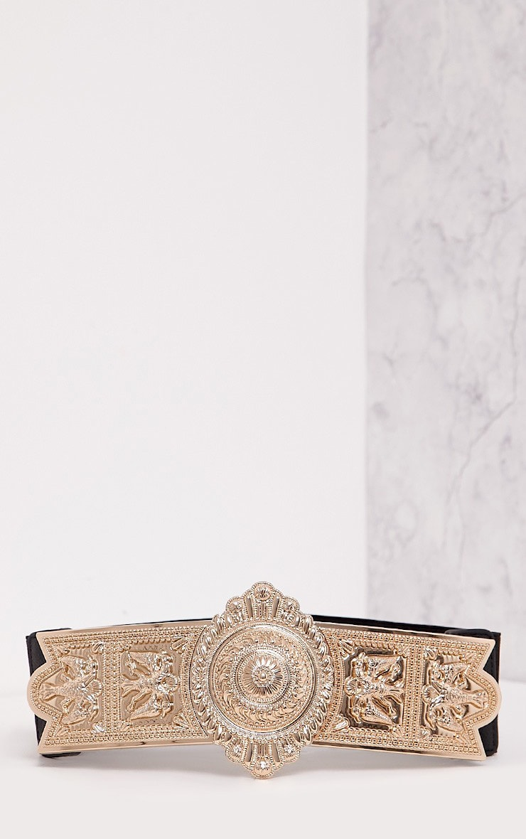 Herra Gold Ornate Buckle Waist Belt 3