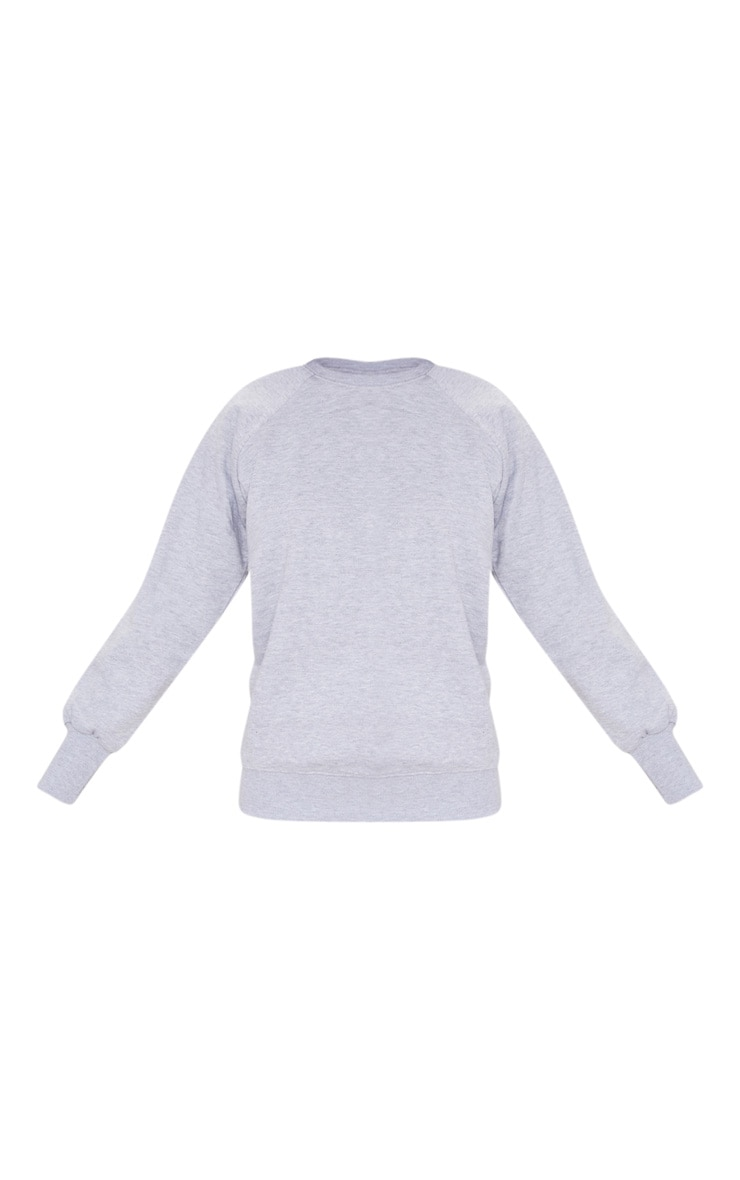 Basic Ash Grey Crew Neck Sweater 3