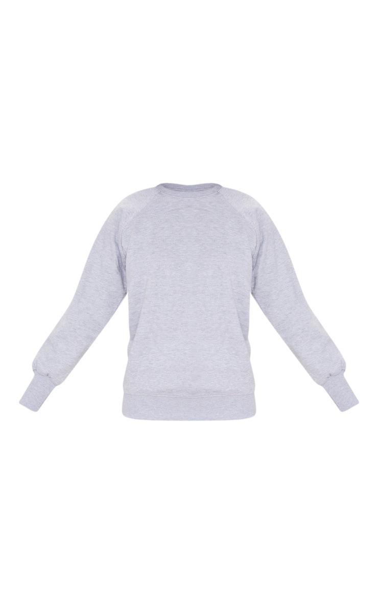 Basic Ash Grey Crew Neck Sweater 3
