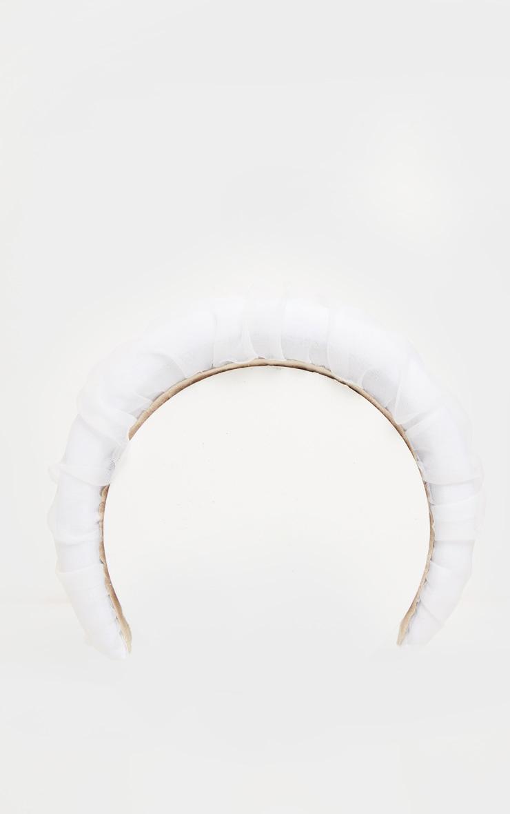 White Organza Alice Headband 2
