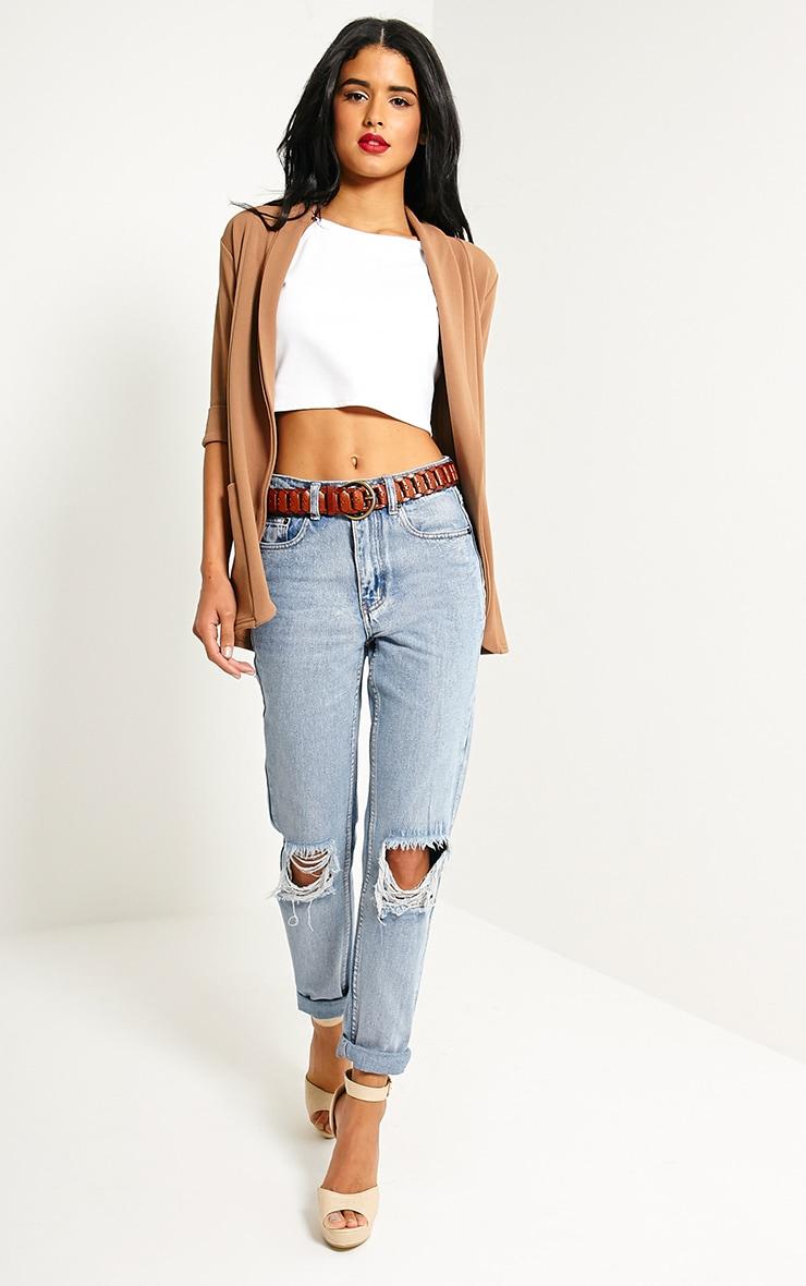 Renata Tan Leather Link Belt 3