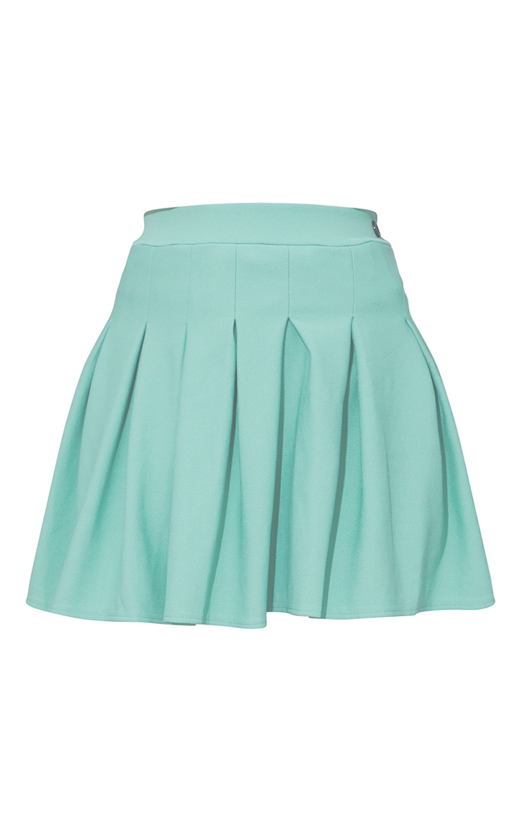 Washed Green Pleated Side Split Tennis Skirt 6