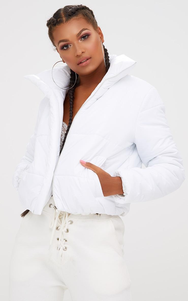 White Puffer Jacket 1