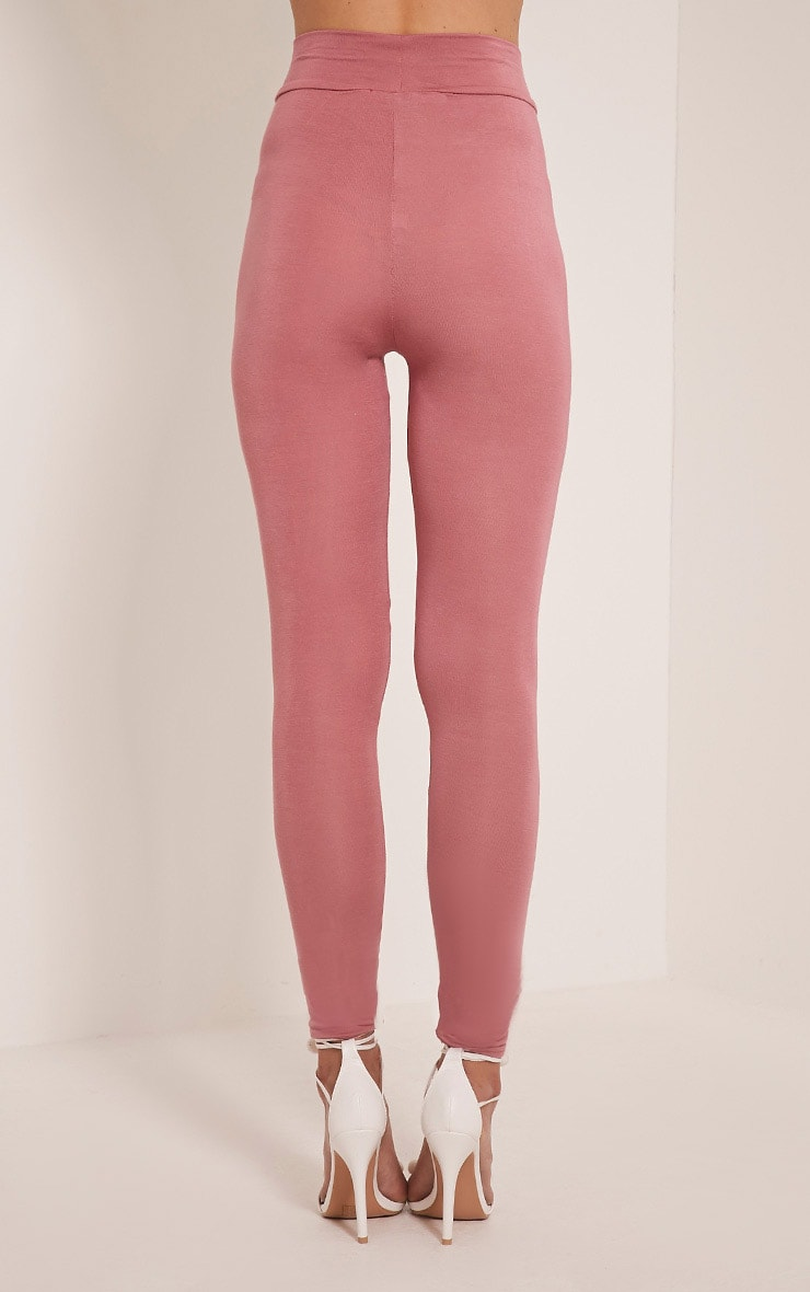 Basic Rose High Waisted Jersey Leggings 5