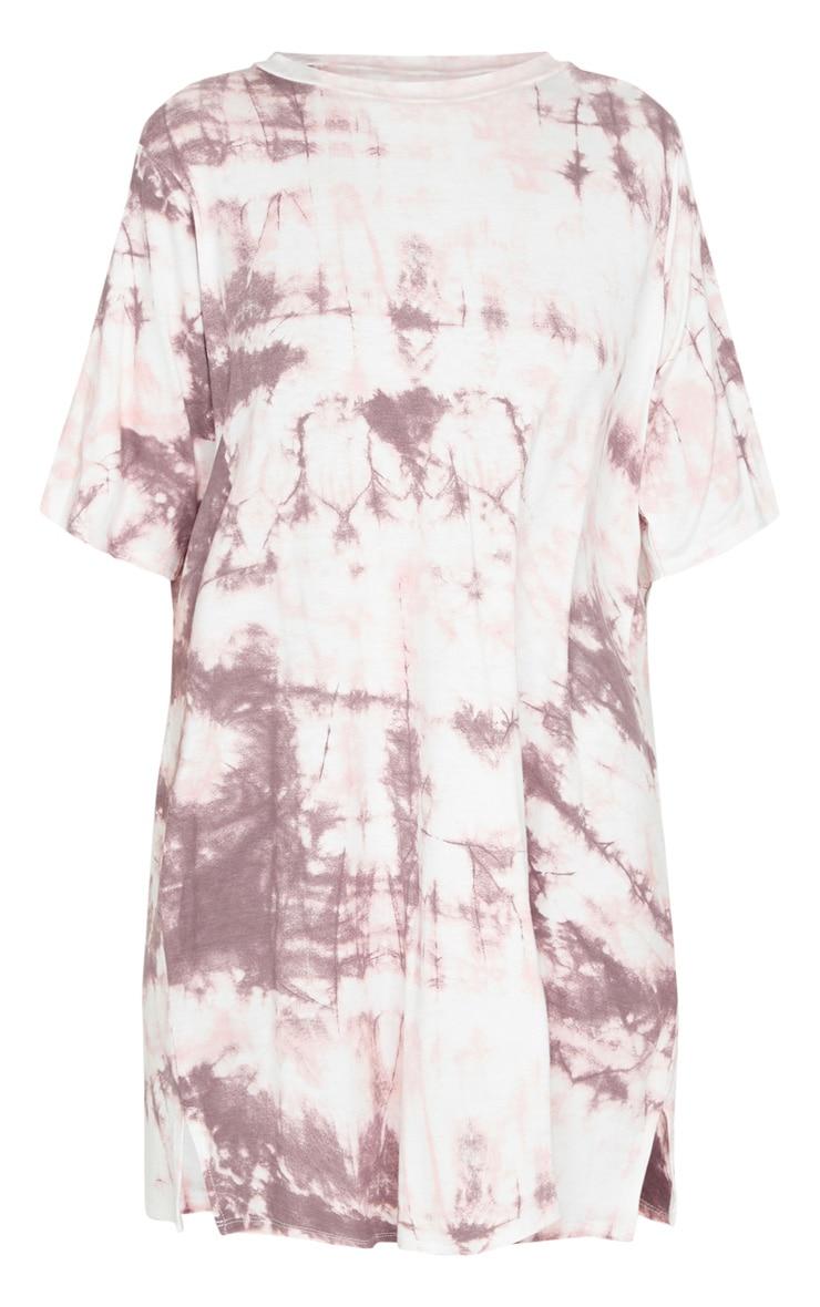 Blush Tie Dye Print T Shirt Dress 5
