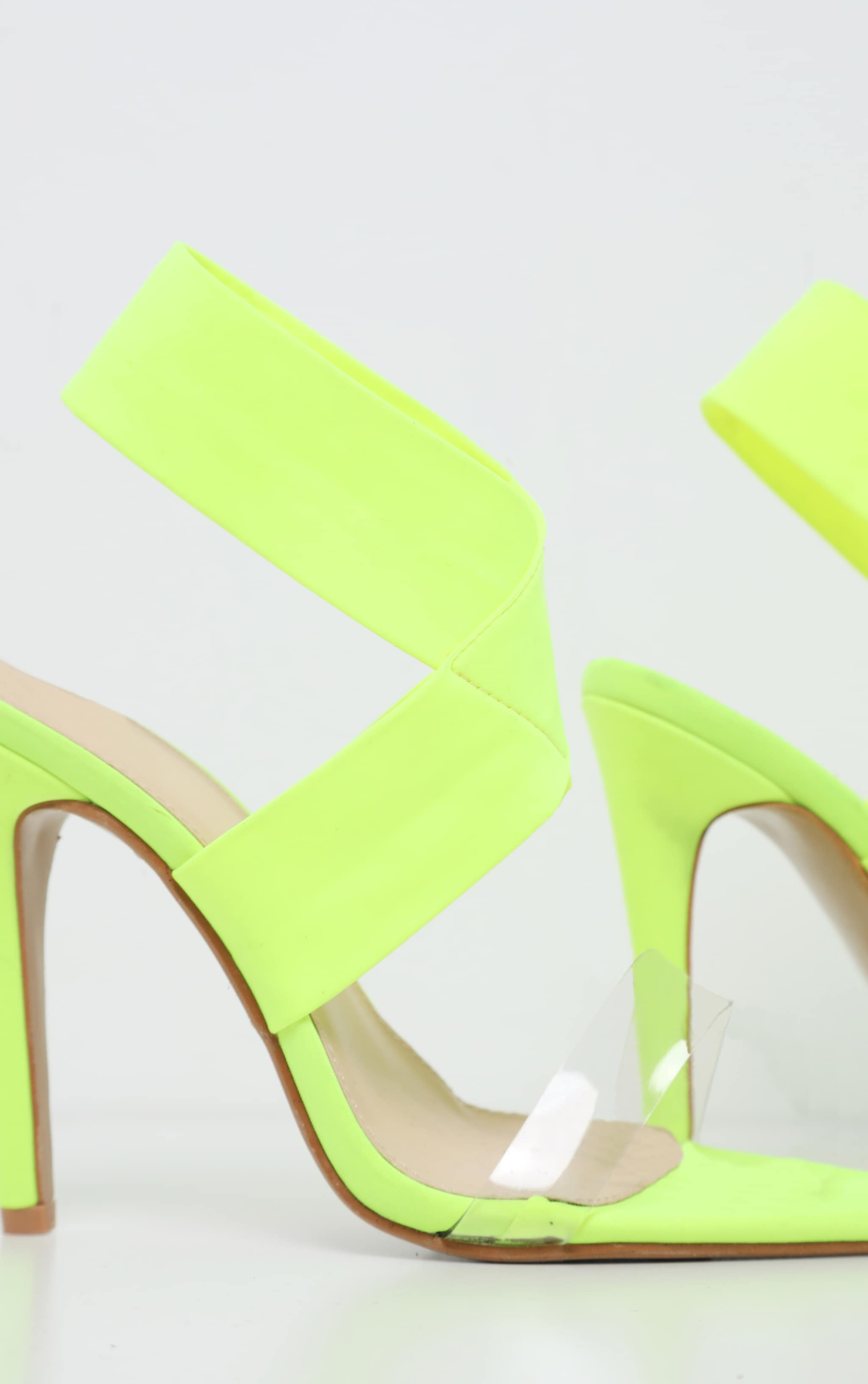Lime Point Toe Lycra Slingback Sandal 3