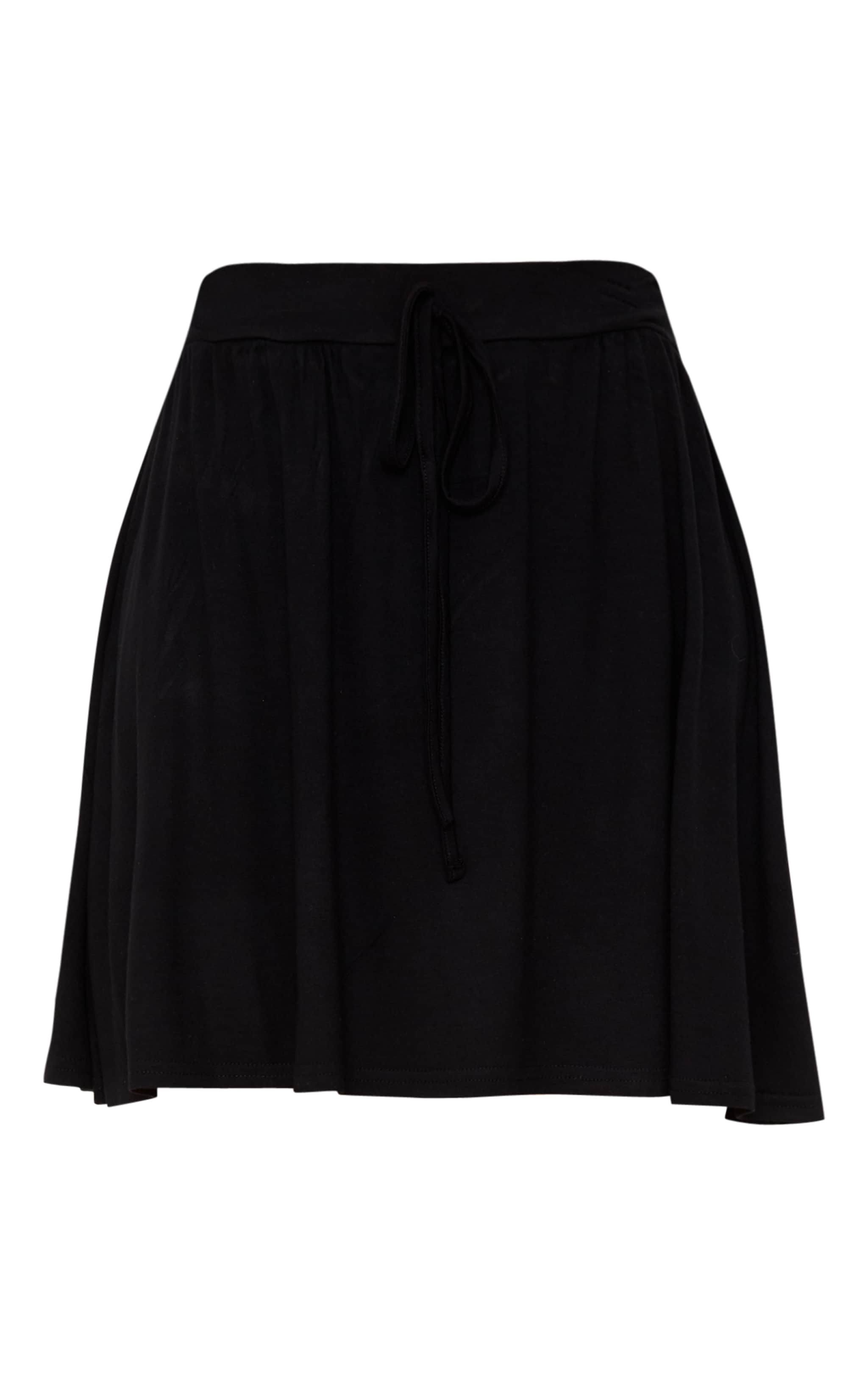 Black Jersey Floaty Mini Skirt 3
