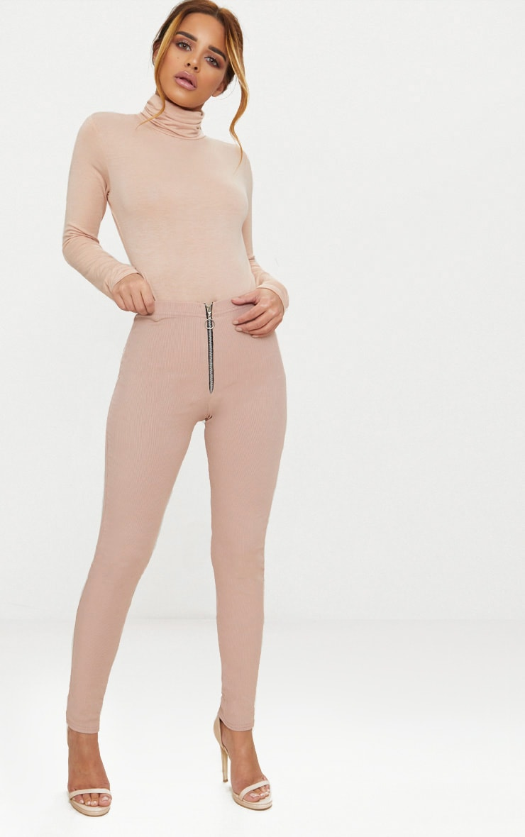 Petite Nude Basic Roll Neck Long Sleeve Bodysuit 5
