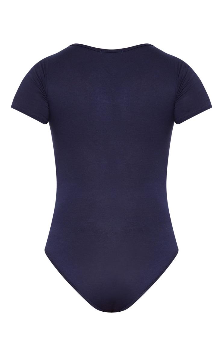 Basic Navy Short Sleeve Bodysuit 4
