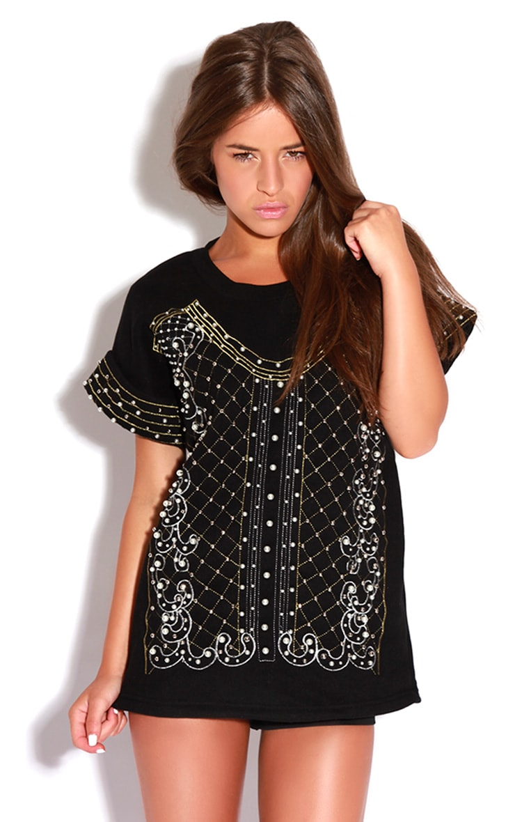 Samantha Black Beaded Jumper 1