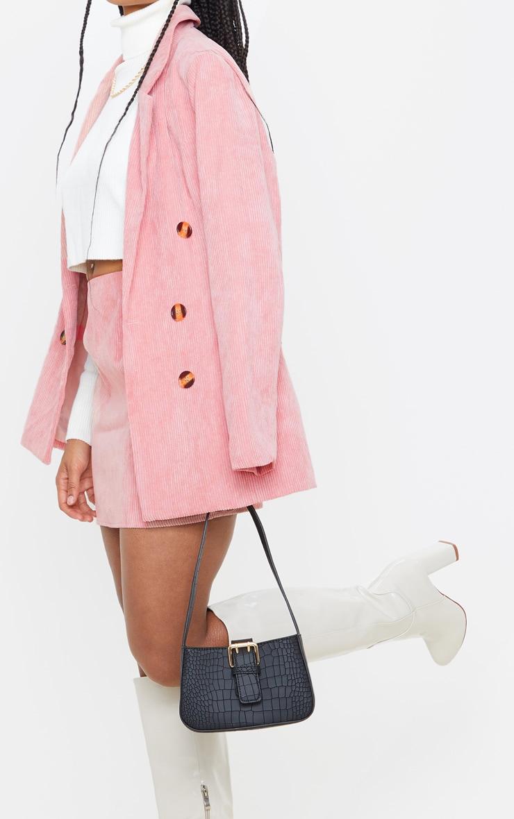 Pink Cord Oversized Boyfriend Blazer 5