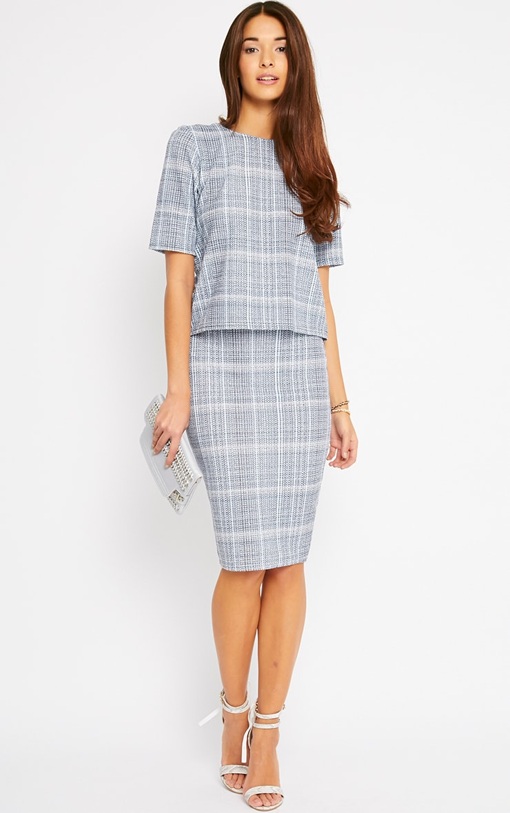 Cleo Blue Checked Top  2